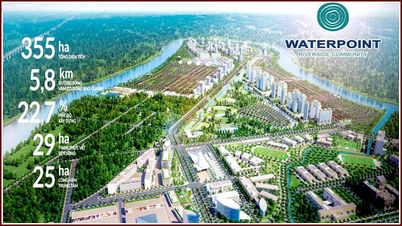 Quy mô khu đô thị sinh thái Waterpoint