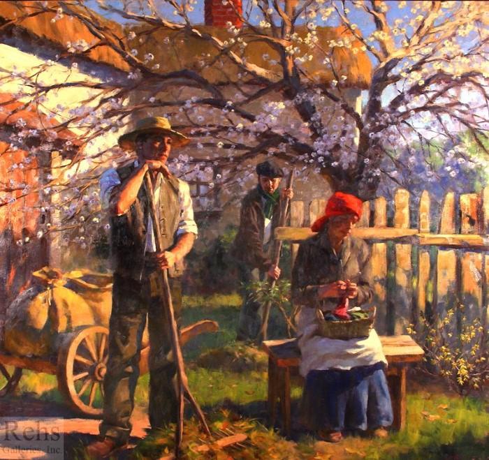 Романтический мир нежной красоты. Gregory Frank Harris