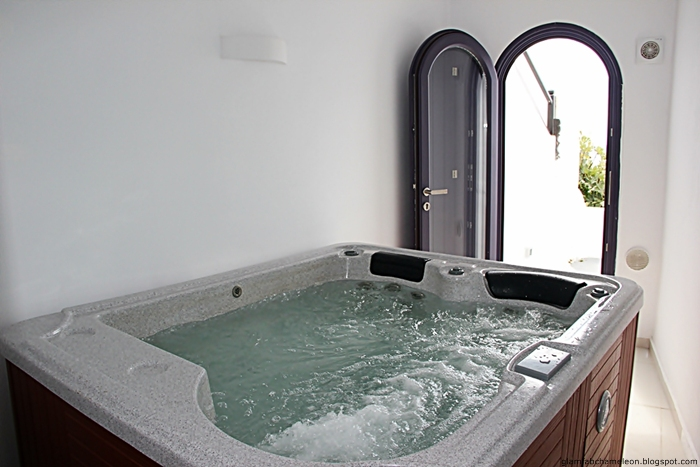 Chromata hotel honeymoon suite private jaccuzzi