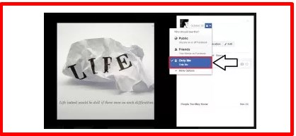how to make photos private on a facebook page