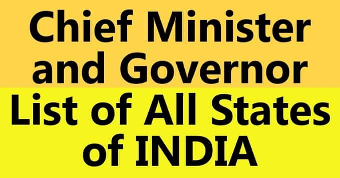 Chief Minister and Governor of India