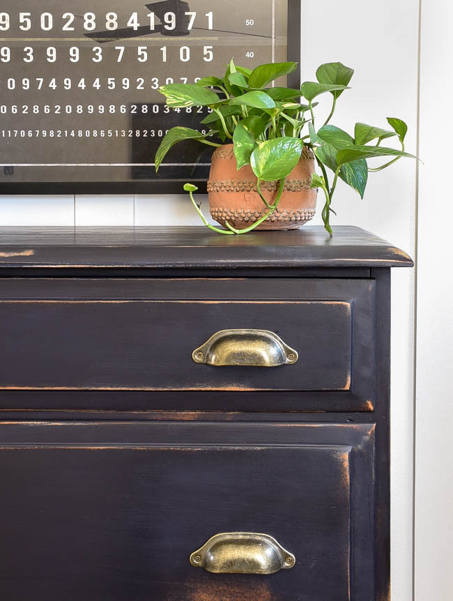 General Finishes Twilight painted dresser