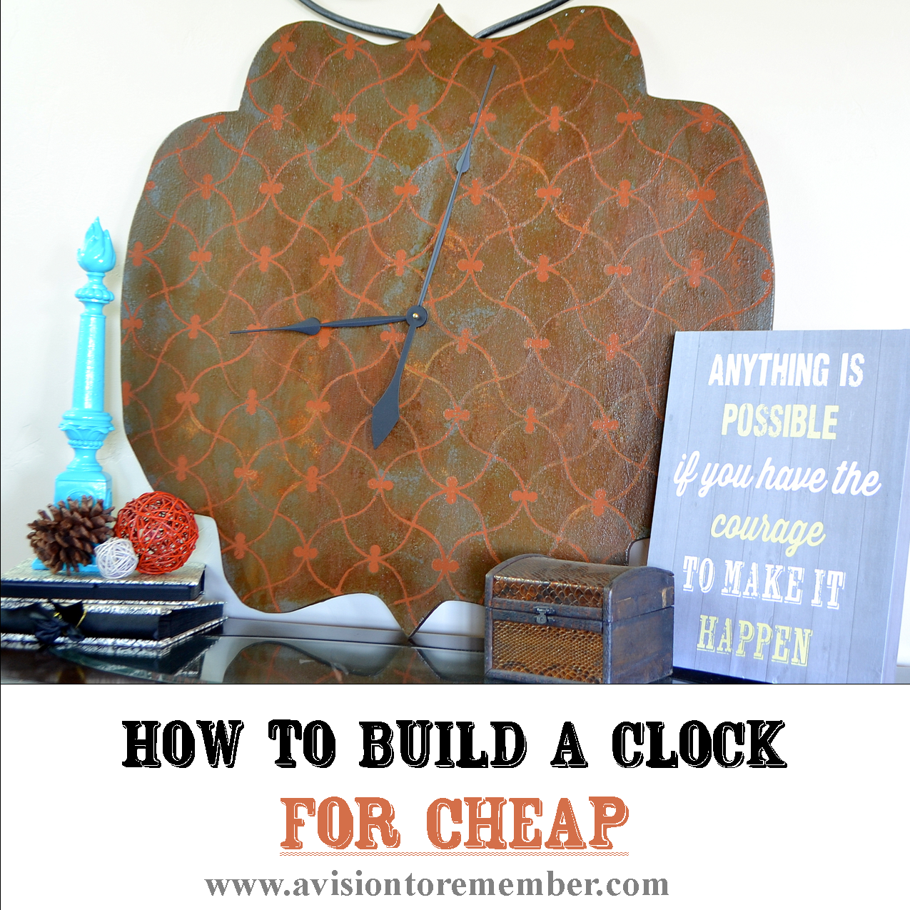 How to build a large clock for cheap