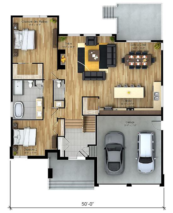 Desain inspiratif rumah minimalis atap datar 1 lantai