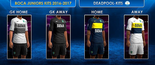 PES 2013 Boca Juniors Kit Season 2016-2017