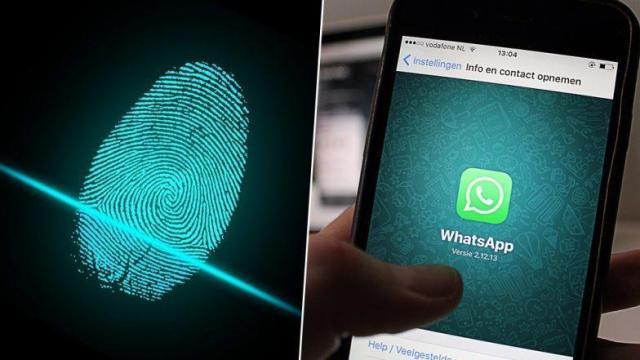 إضافة بصمة أصبع لتطبيق whats app