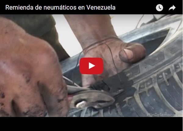 Remiendan cauchos en Venezuela por escaséz