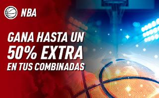 sportium promo NBA extra en Combinadas hasta 5 enero 2020