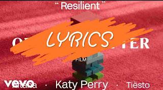 Resilient song lyrics - Katy Perry new song lyrics 2020