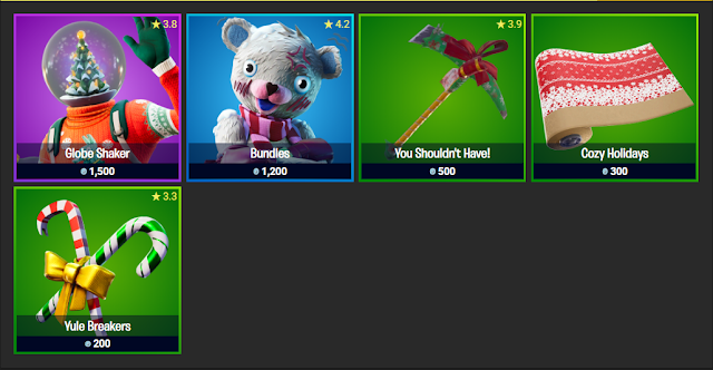 Fortnite Item Shop December 25, 2019