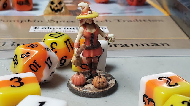 Candy Corn Dice and Witch