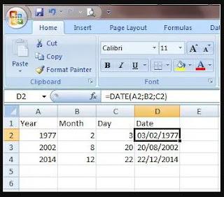 Fungsi DATE