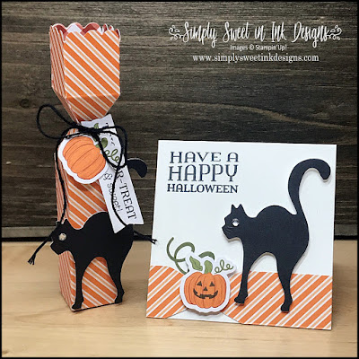 Cute alternative project with the October 2020 Paper Pumpkin: Hello Pumpkin kit to make a lip balm holder and mini note card.
