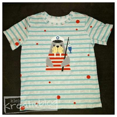 """www.kleiner-kreativblog.de Kinder-T-Shirt """"Walross"""""""