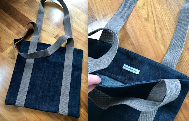 Diary of a Chain Stitcher: Denim Vinyl Record Collector Tote