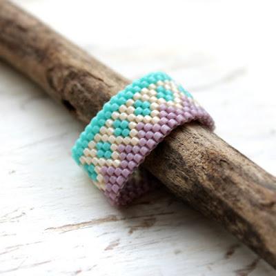 цветные кольца на палец модные широкие кольца украшения из бисера купить
