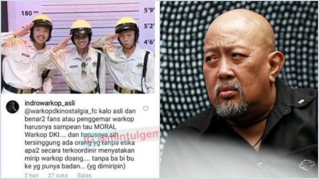 Kritik 3 Pemuda Mirip Warkop DKI, Indro Tak Terima Identitas Diri dan Rekannya Ditiru Tanpa Izin