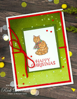 Today I have a super cute little Happy Christmas Card for you using the Yuletide Paster Stamp Set from Stampin' Up! click here to learn more