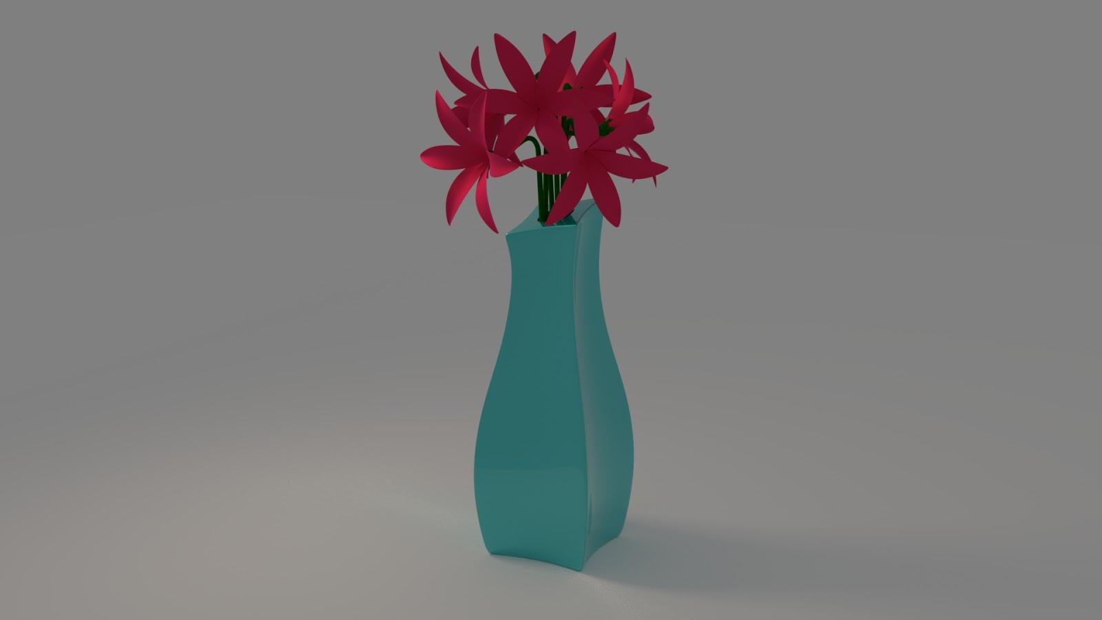 Free 3D Flower Vase .blend file