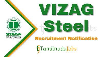 Vizag Steel Recruitment notification 2019, govt jobs for ITI, govt jobs for diploma central govt jobs,