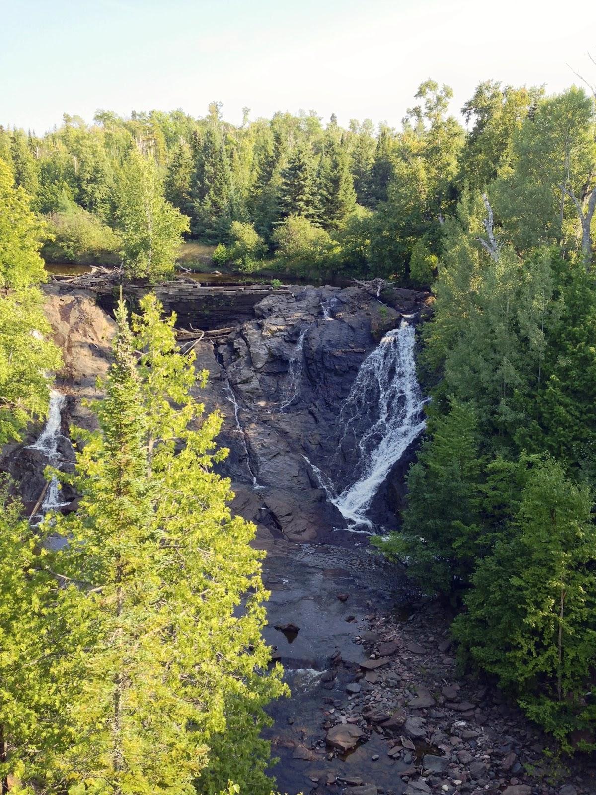 Waterfall in Eagle River, Michigan