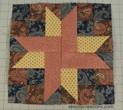 12 inch sweet star block