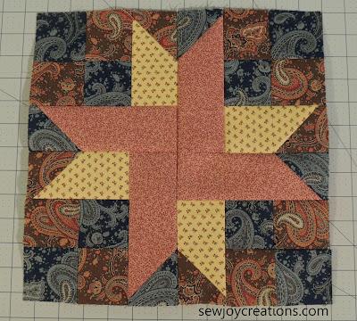 12 inch sweet star block