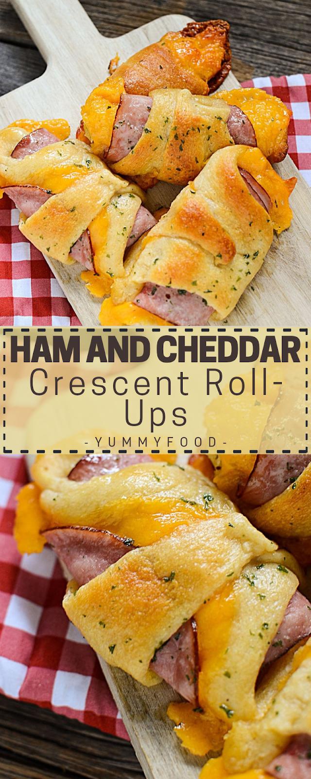 Ham And Cheddar Crescent Roll-Ups