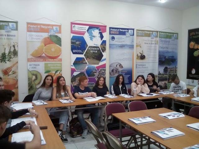 Μαθητές του 2ου Γενικού Λυκείου Ηγουμενίτσας επισκέφθηκαν το Επιμελητήριο Θεσπρωτίας