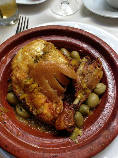 poulet au citron confit et aux olives