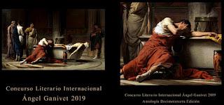 Portada y contraportada Antologia Concurso Angel Ganivet 2019