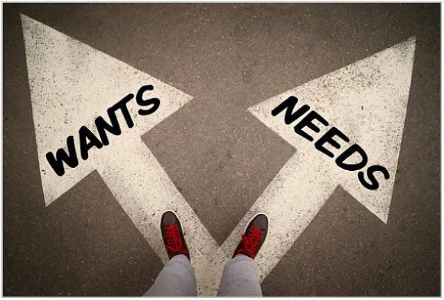 Kebutuhan atau Keinginan;