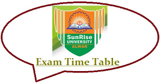 Sunrise University Exam Date Sheet 2020