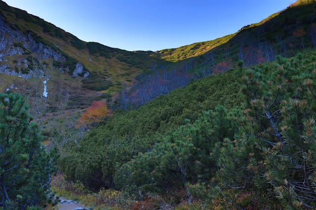 Piekiełko w Dolinie Kondratowej, niebieski szlak na Giewont