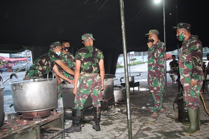 Korem 133/NWB Dirikan Dapur Umum Bantu Korban Banjir Gorontalo