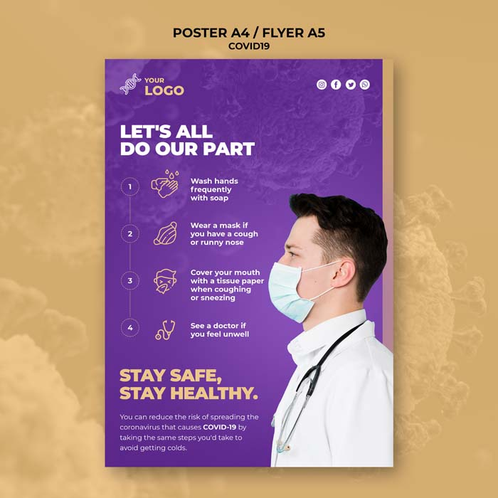 Be Informed Covid 19 Poster Template