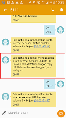 cara mendaoatkan kuota internet terbaru dari telkomsel hanya rp10