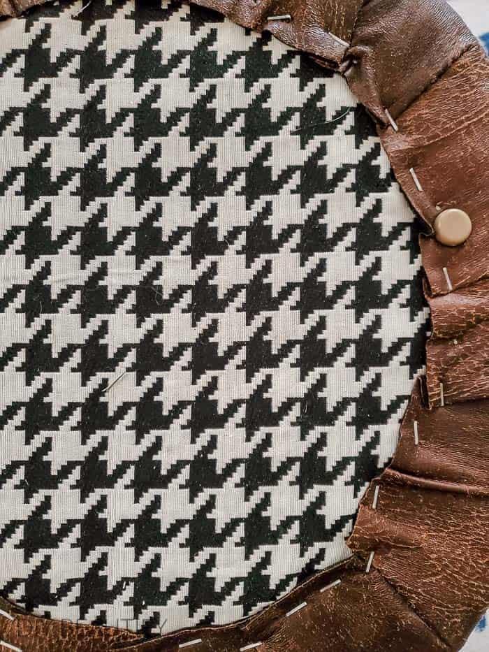 staple fabric to bottom