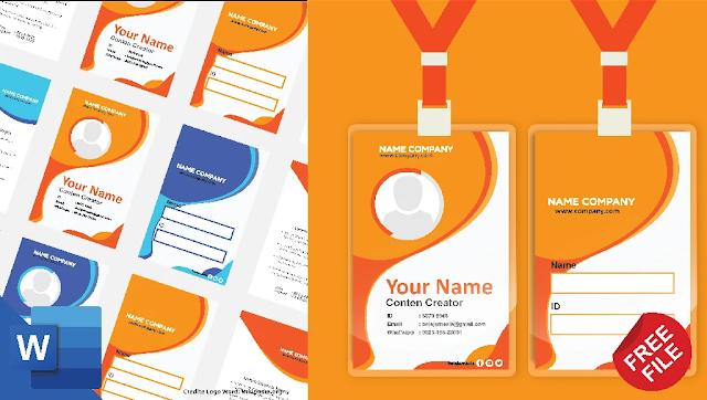 Free File : Membuat Desain Name Tag Microsoft Word
