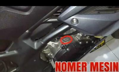 Letak Nomor Rangka dan Nomor Mesin Honda CBR 250