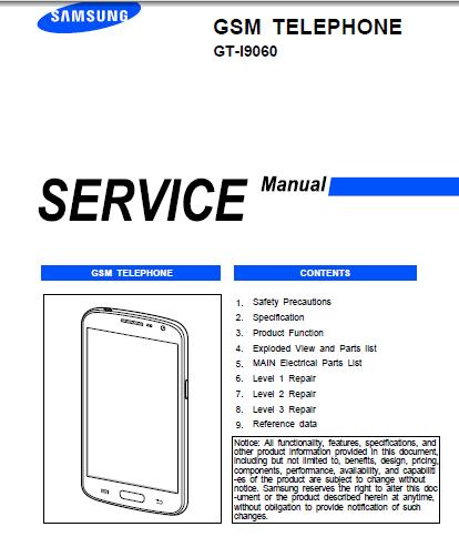 Samsung Galaxy Grand Neo GTI9060 Service Manual  Download Service Manual