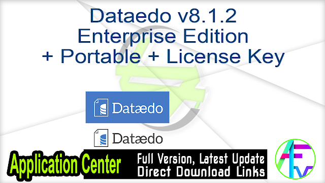 Dataedo v8.1.2 Enterprise Edition + Portable + License Key