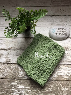 Handmade Dish Cloths Sage Green