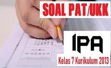 Download Soal PAT IPA Kelas 7 SMP/MTs Kurikulum 2013