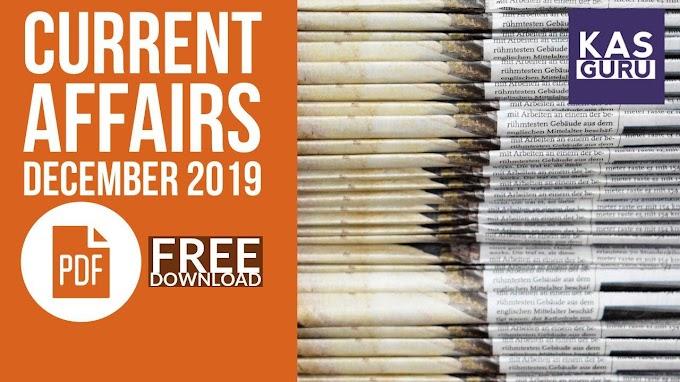 Current Affairs Guru December 2019 | Download Free PDF Magazine for KAS Kerala