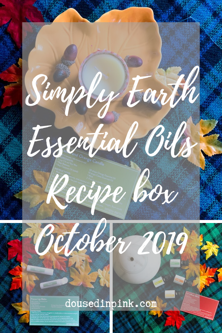 Simply Earth Essential Oils October Recipe Box