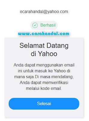 Cara Buat Daftar Email Yahoo di Komputer selesai
