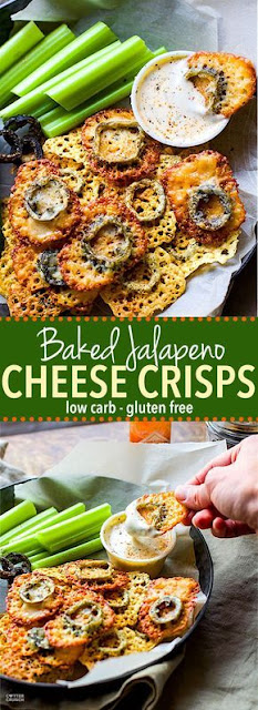 Baked Jalapeno Cheese Crisp {Gluten Free, Low Carb}