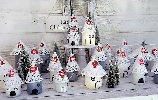 DIY - Adventskalender aus Marmeladengläsern