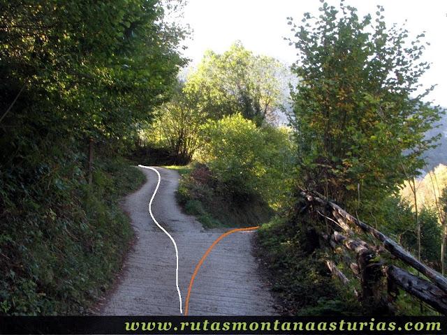 Ruta de los Arrudos y Corteguerón: Sendero hormigonado inicialmente